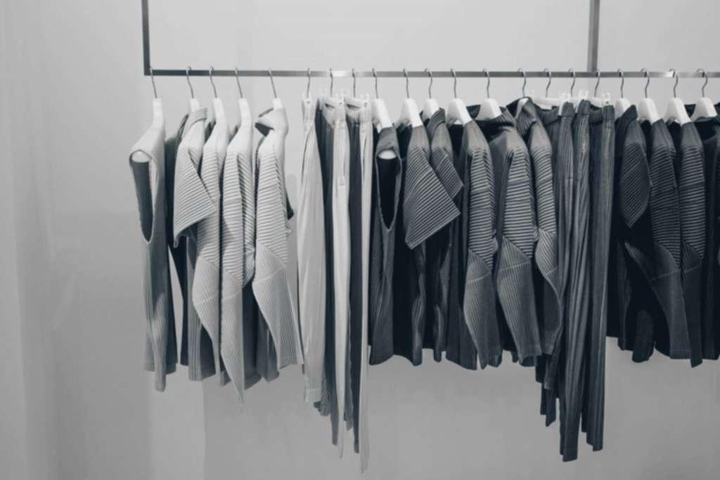 basic-yet-fashionable clothing items in closet