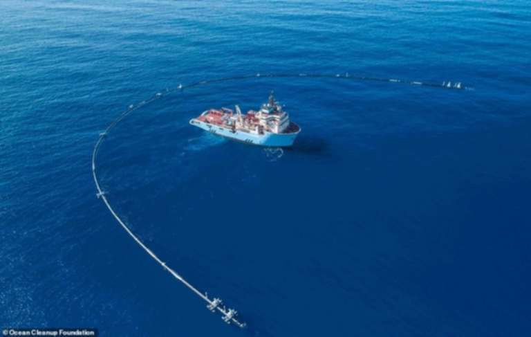 The Ocean Cleanup Project Created a Plastic-Fighting Pipe to Clean Up The Great Pacific Garbage Patch