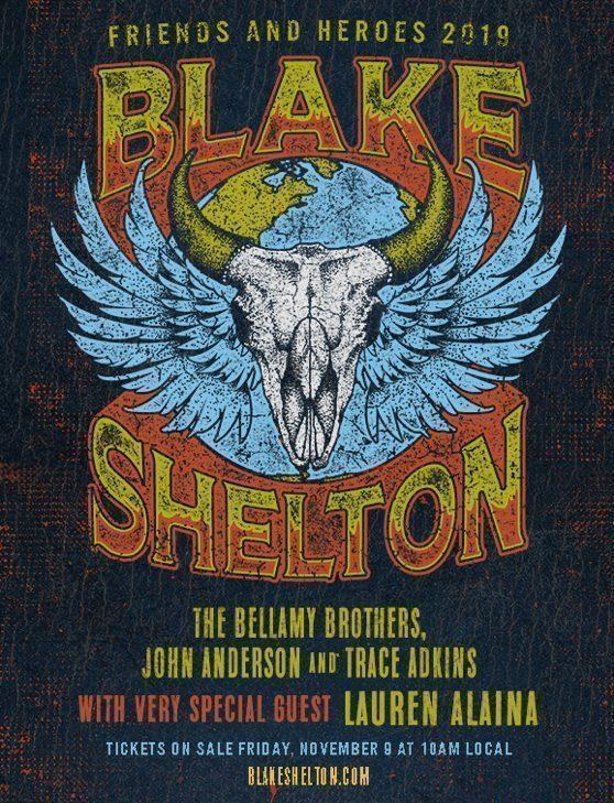 "Bellamy Brothers Join Blake Shelton's ""Friends & Heroes 2019"" Music Tour"