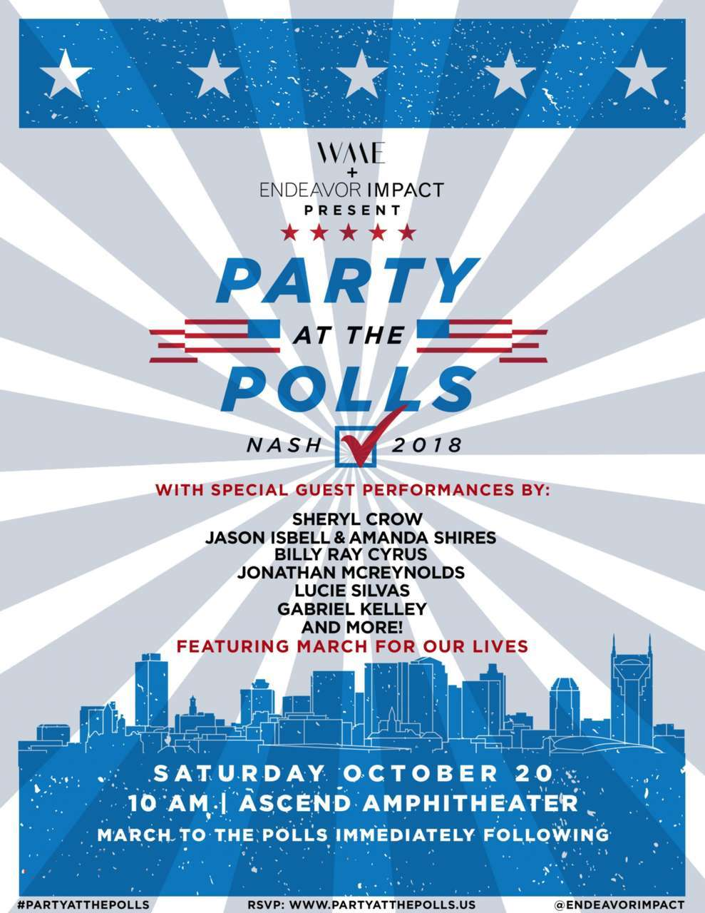 Billy Ray Cyrus Joins WME's 2018 'Party At The Polls' In Nashville