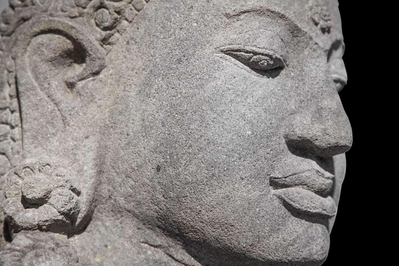 Ancient Sculptures Hidden In A Wall In Peru