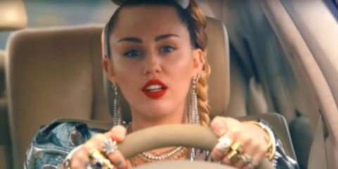 Watch Miley Cyrus In The World's Slowest Car Chase