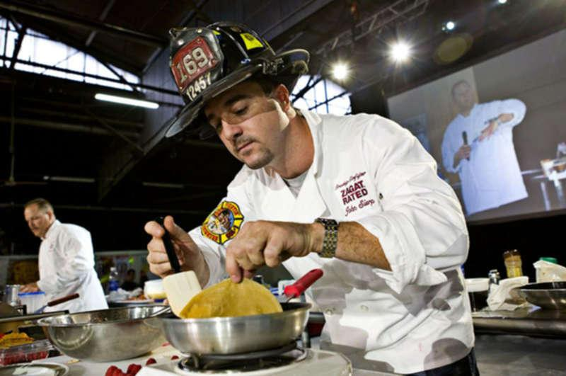 FDNY lieutenant John Sierp doubles as Home Base head chef