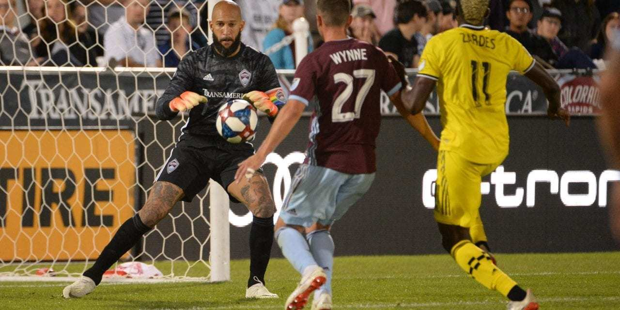 """Colorado Rapids Victorious Over Columbus Crew SC<span class=""""wtr-time-wrap after-title""""><span class=""""wtr-time-number"""">2</span> min read</span>"""