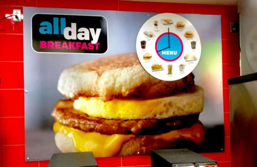 McDonalds All Day Breakfast poster