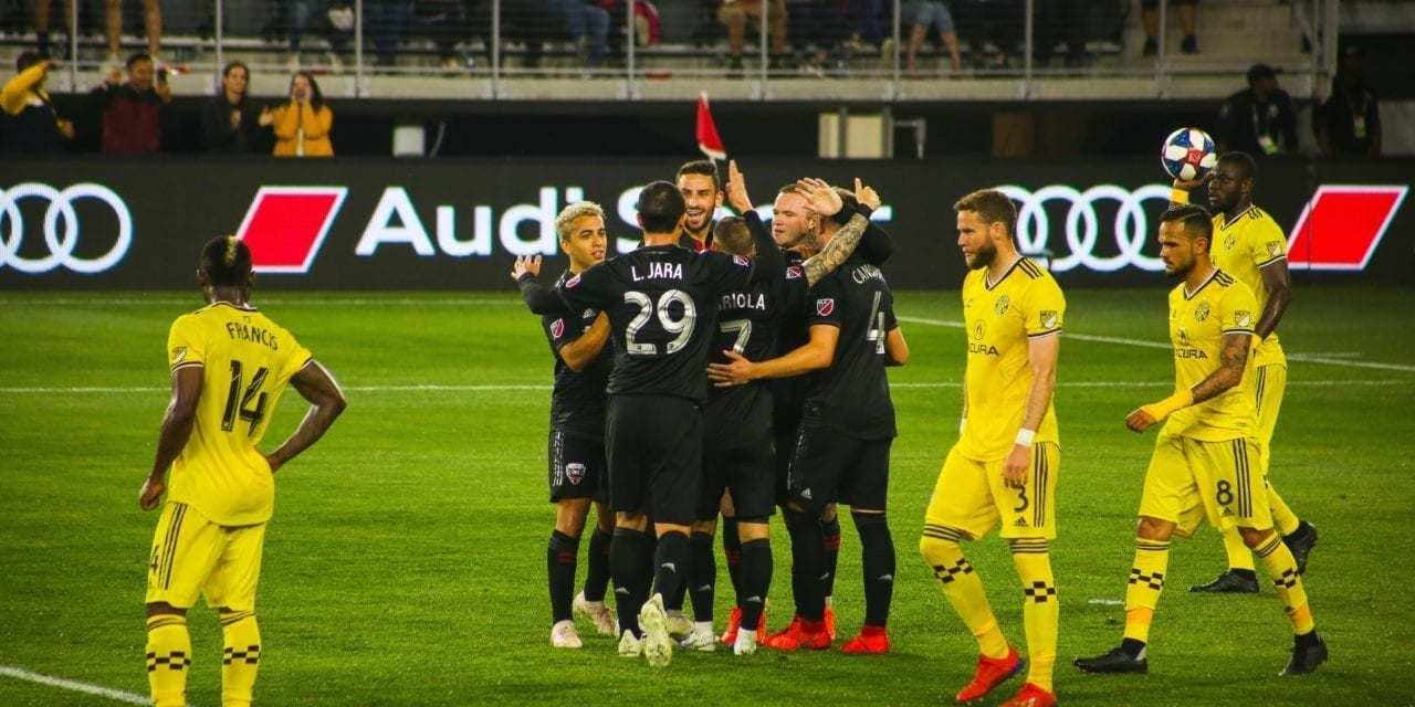 """Columbus Crew SC Fall to D.C. United, Again<span class=""""wtr-time-wrap after-title""""><span class=""""wtr-time-number"""">2</span> min read</span>"""