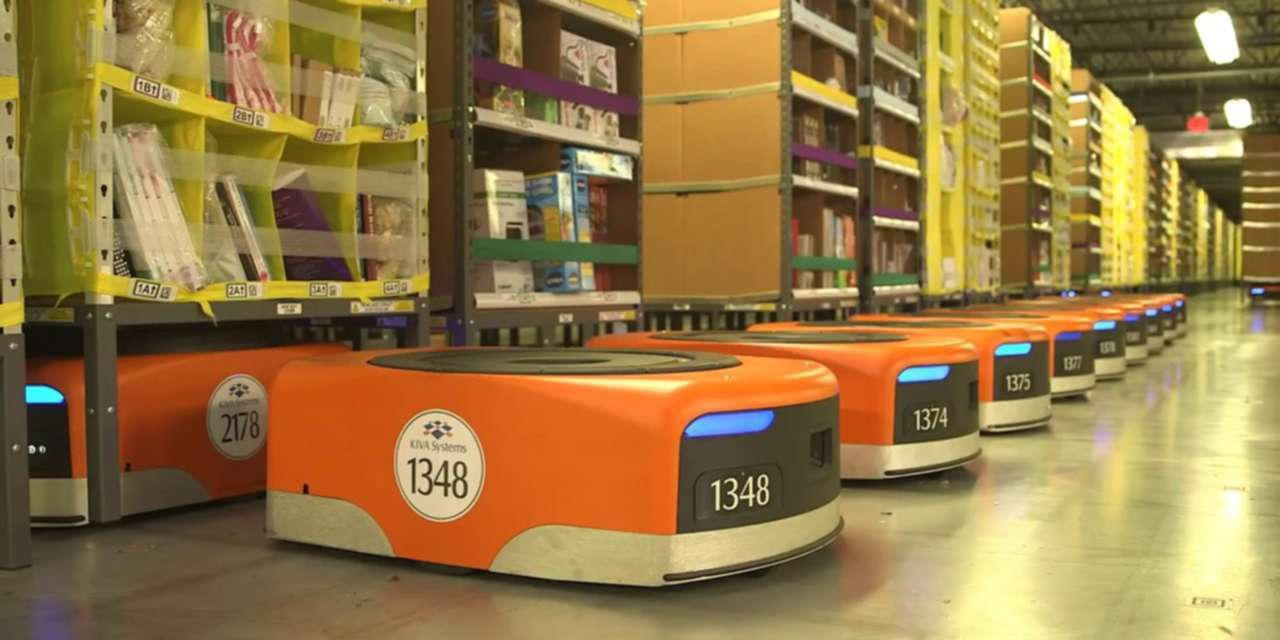 """Amazon Will Reportedly Replace Some Warehouse Workers With Robots<span class=""""wtr-time-wrap after-title""""><span class=""""wtr-time-number"""">3</span> min read</span>"""