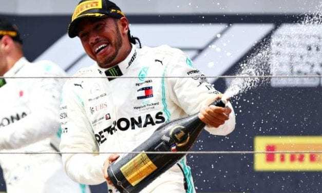 Mercedes' Lewis Hamilton wins for the sixth time this season