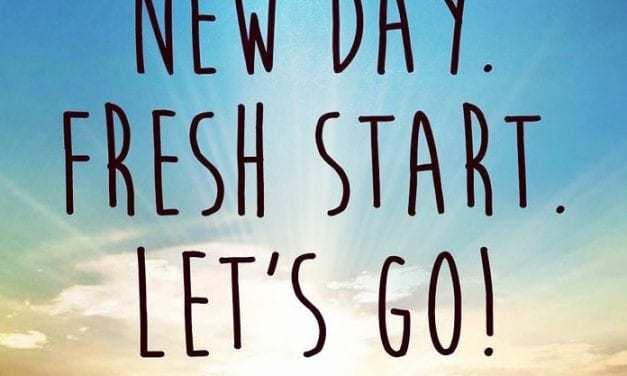 Motivation Monday: Fresh Starts