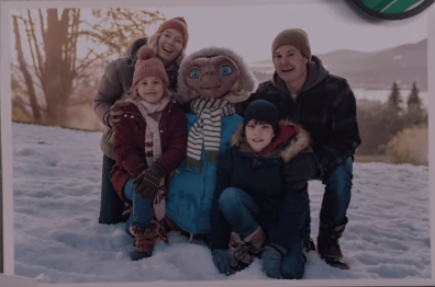 """""""You Came Back!"""" E.T. and Elliott Reunite 37-Years Later in New TV Ad and He Still Fits in the Basket!"""