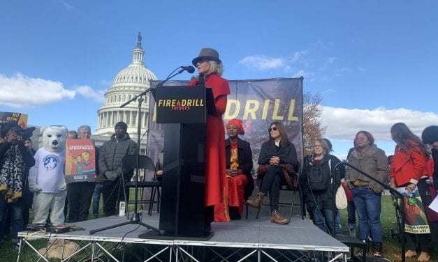 Lily Tomlin and Jane Fonda March For Climate Justice