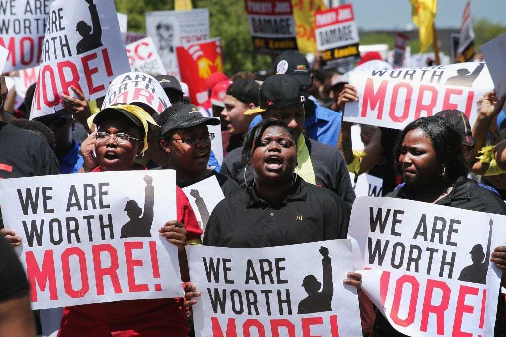 Workers Petition for Raising the Minimum Wage