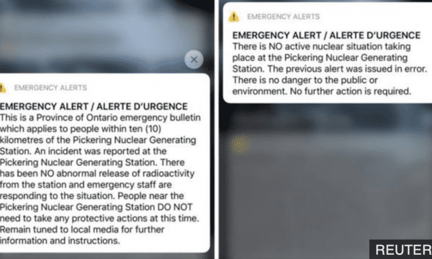 False Nuclear Emergency Alert Sent to Millions in Canada