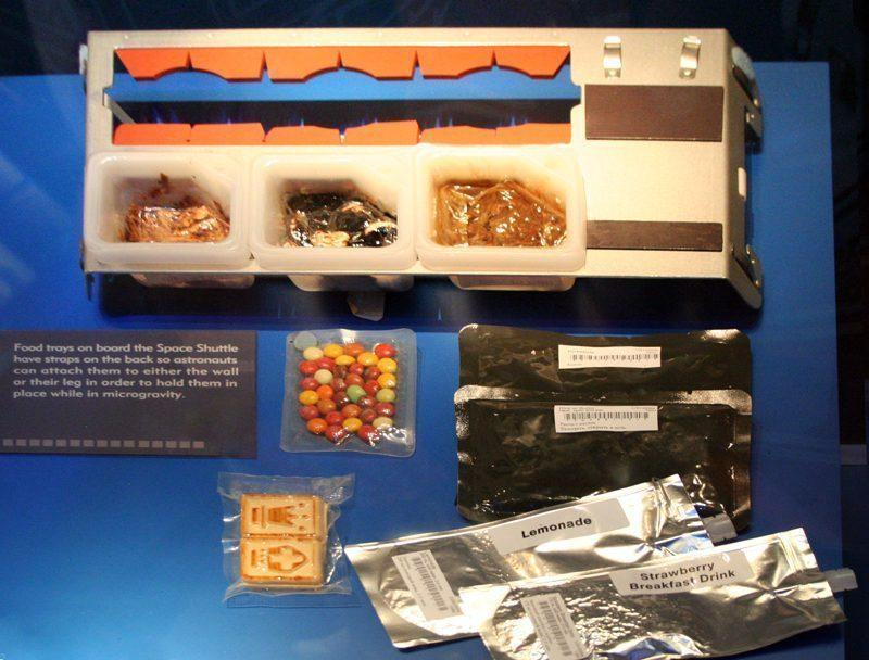 Food tray used aboard the Space Shuttles