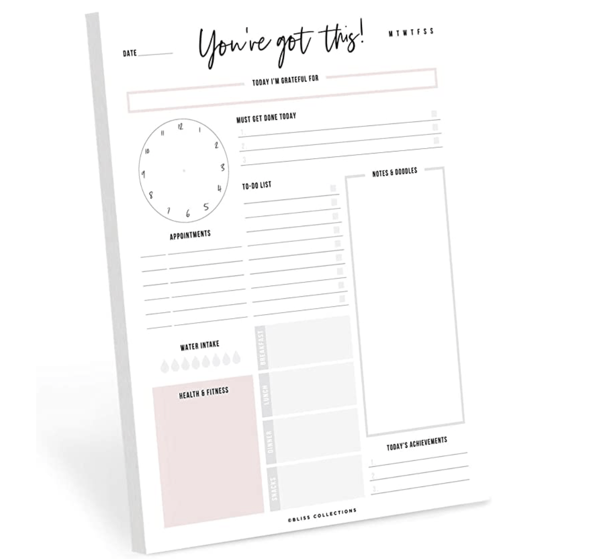 A daily tear-off planner that gives encouraging advice