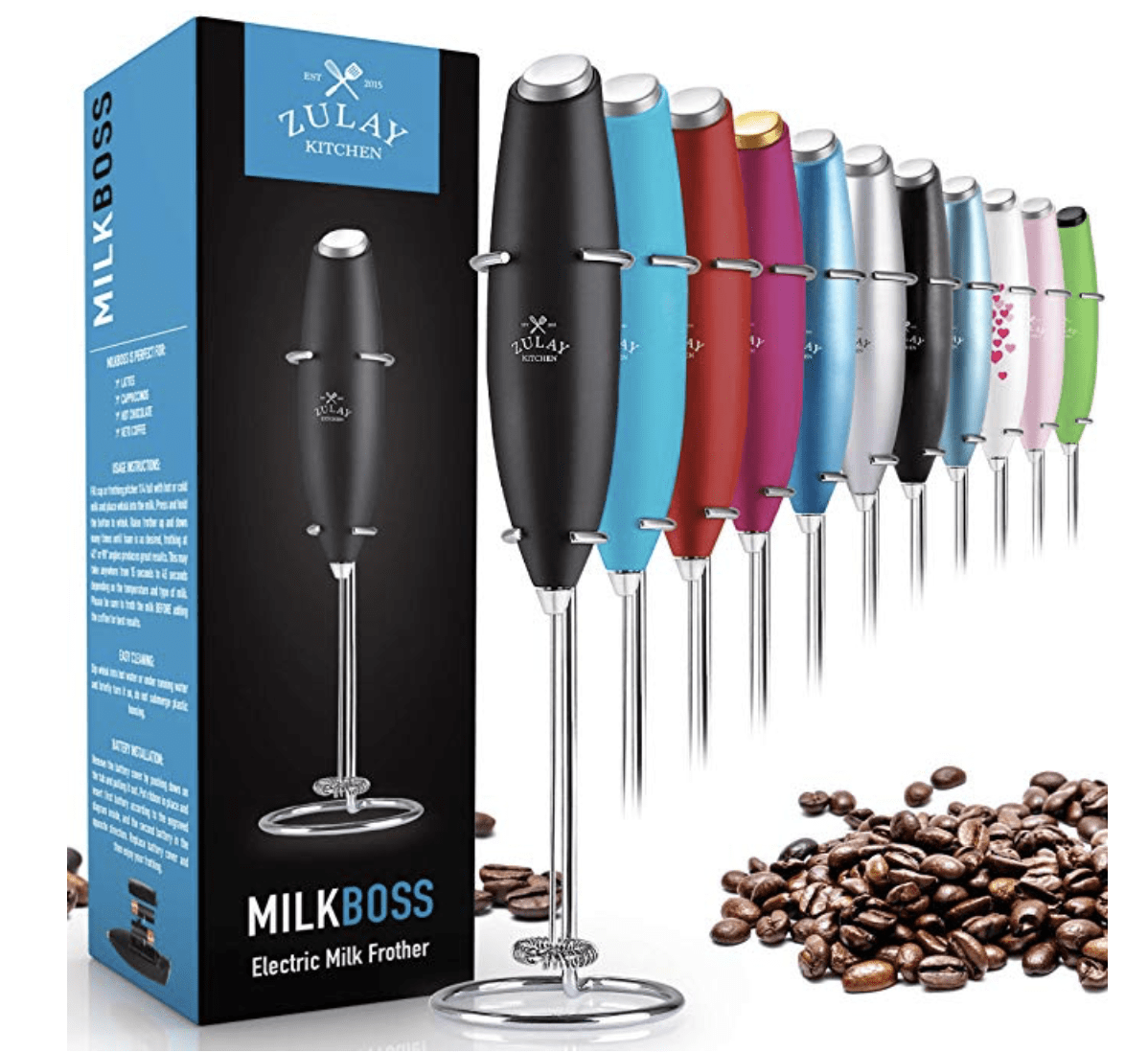 This milk frother that lets you make oat milk latte's at home