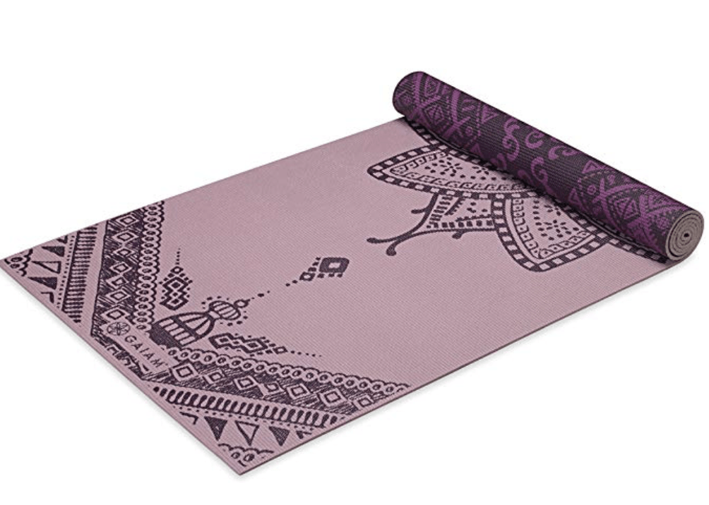 A yoga mat to stretch in between tasks