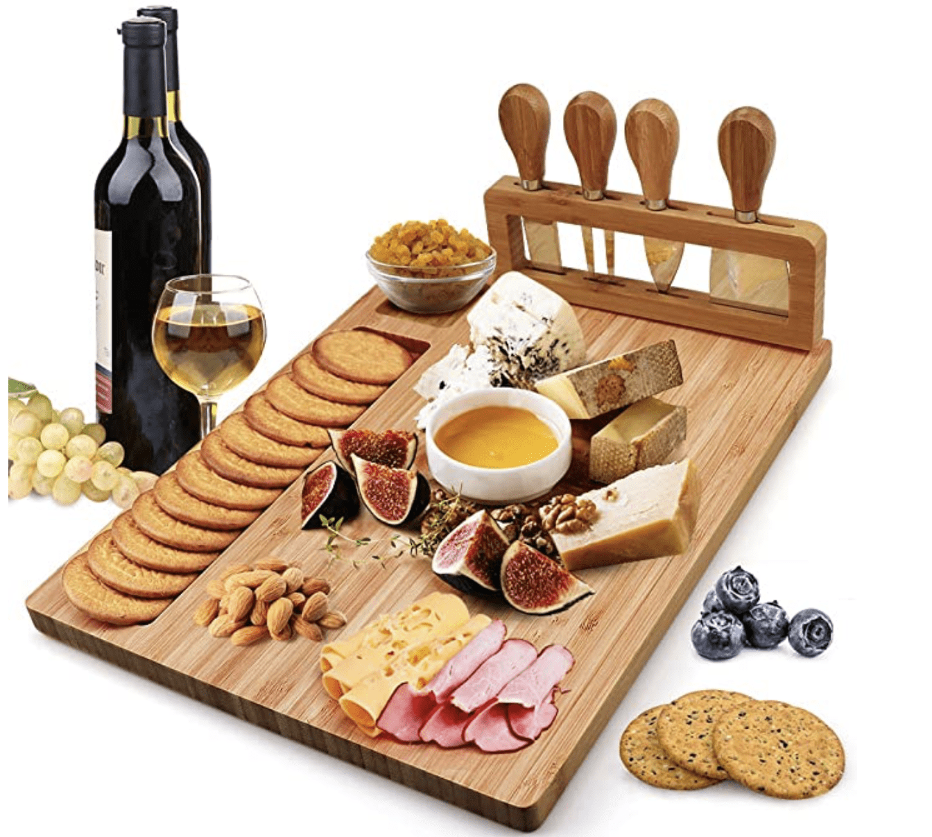 A charcuterie board that will make you feel like you're dining at a five star hotel.