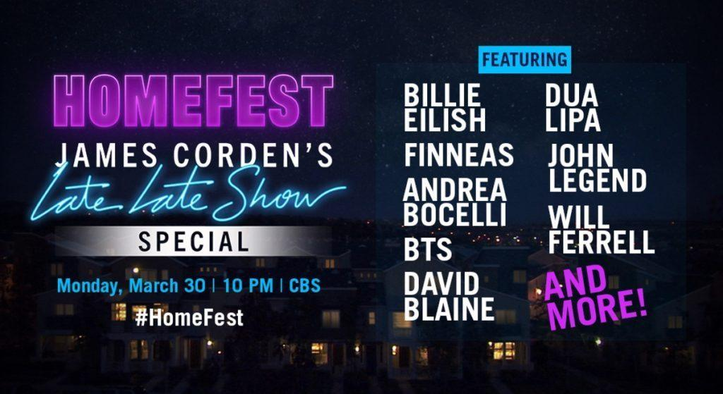 Homefest: James Corden's Late Late Special