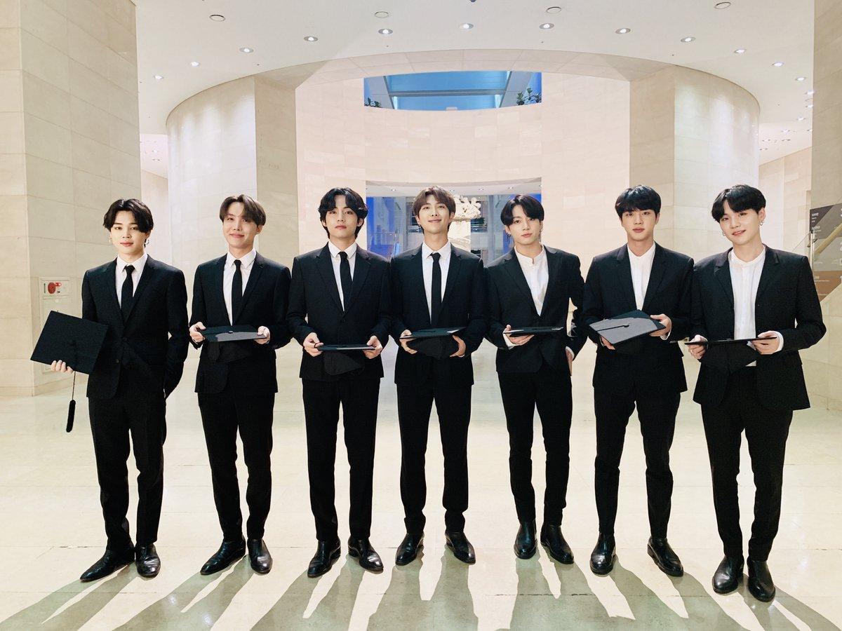 BTS at Dear Class of 2020