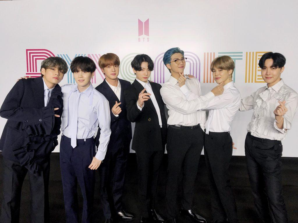 BTS at Dynamite Press Conference