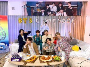 BTS during their BE comeback live