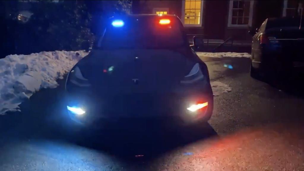 Tesla Police Car