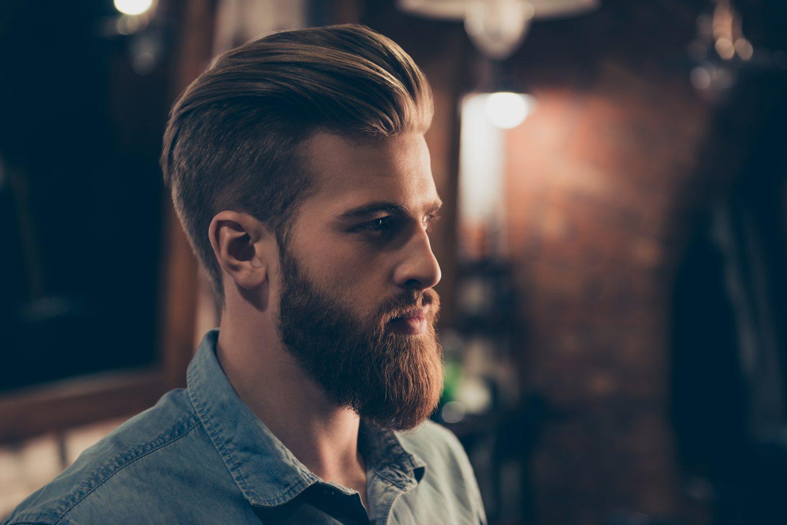 man with groomed beard