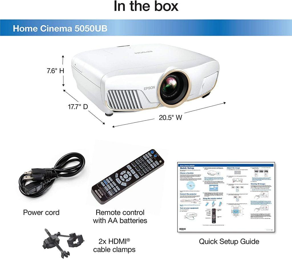 epson home cinema 5050ub 4k projector