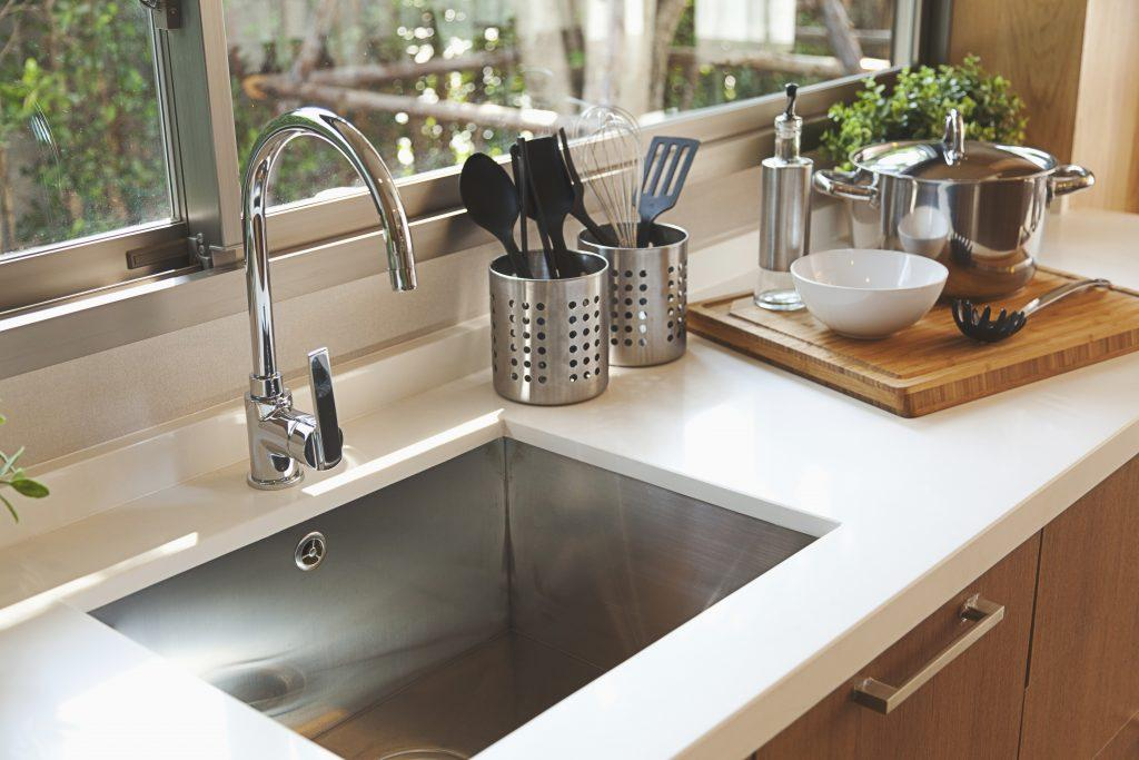 over the dish sink rack