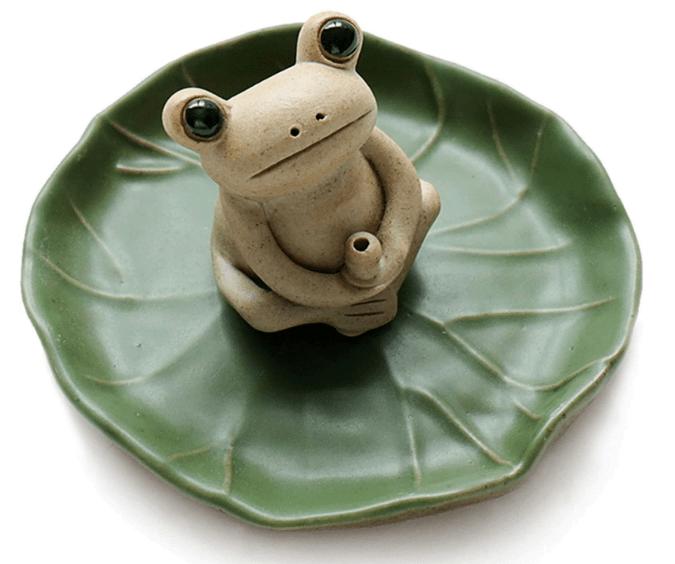 NAGU 100% Handmade Ceramic Stick Incense Burner Holder