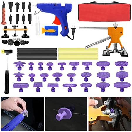 EVBOYS Paintless Dent Repair Tools - 58 Pcs Dent Remover Kits for Car Hail Damage Dent & Ding Removal