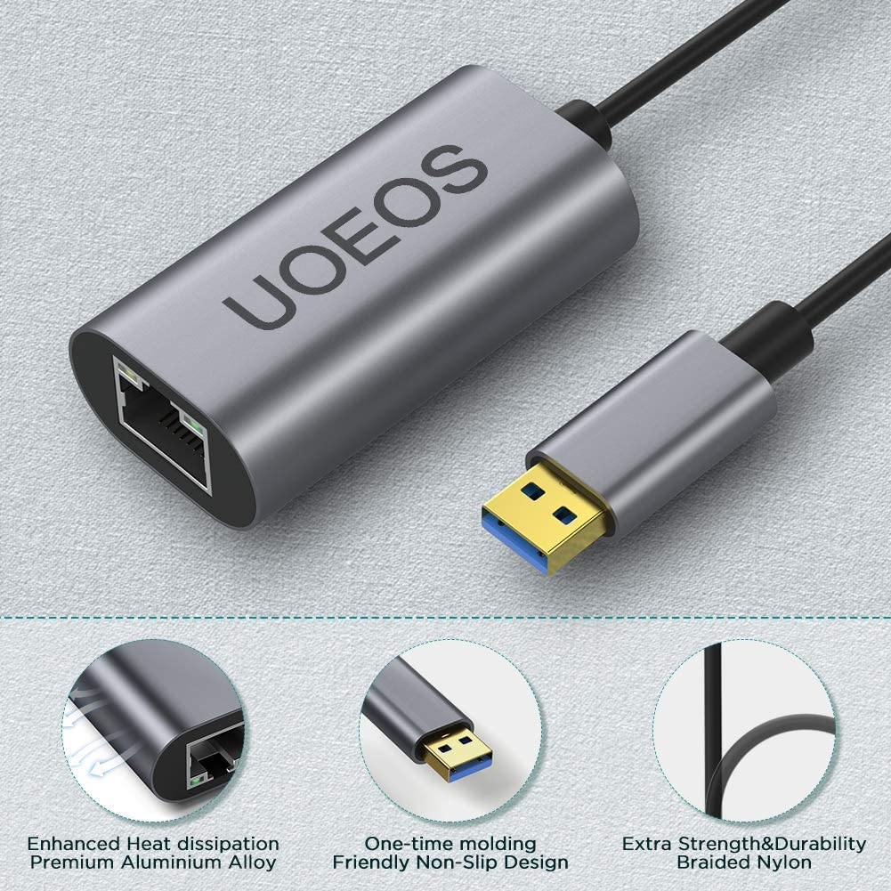 uoeos USB to Ethernet Adapter