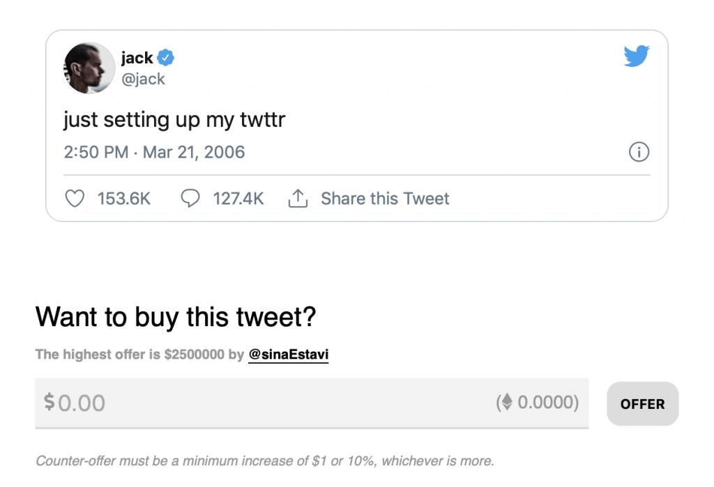 tweet as an nft