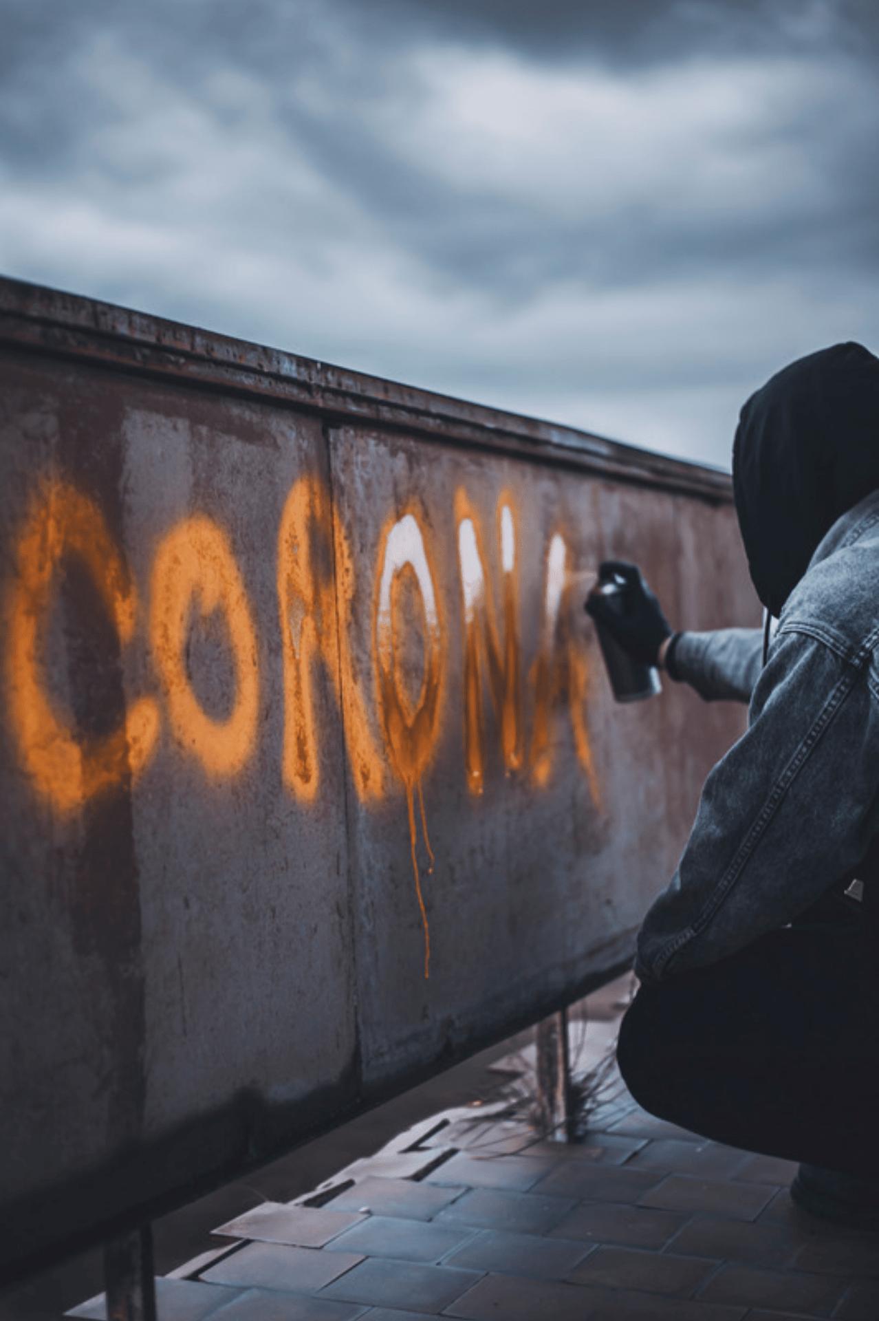 spray painting coronavirus