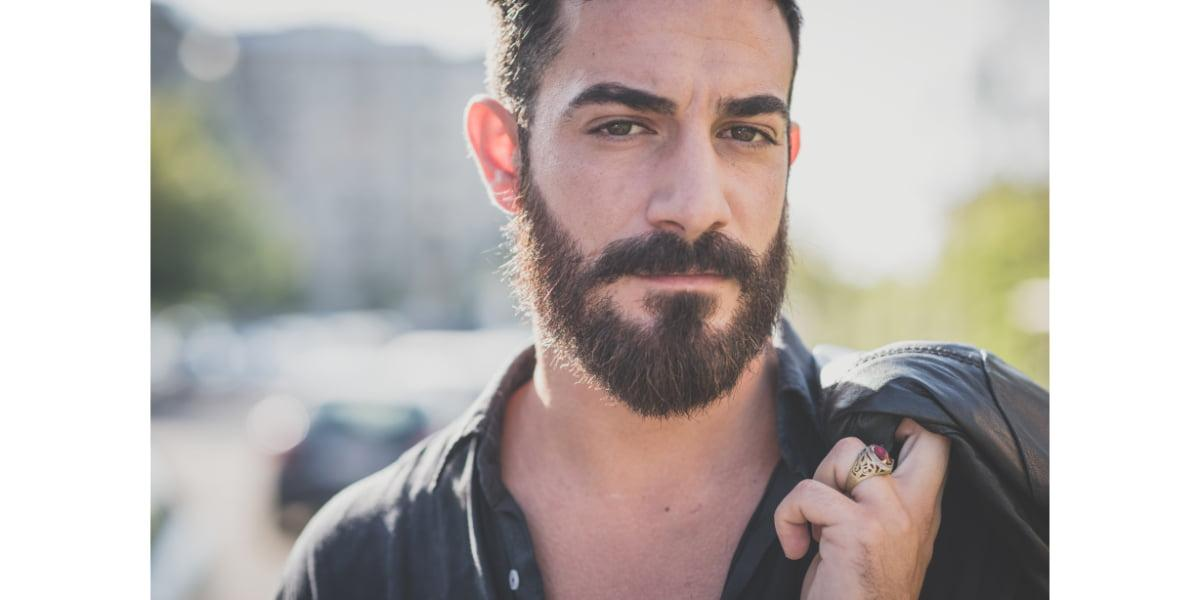 young man with conditioned beard