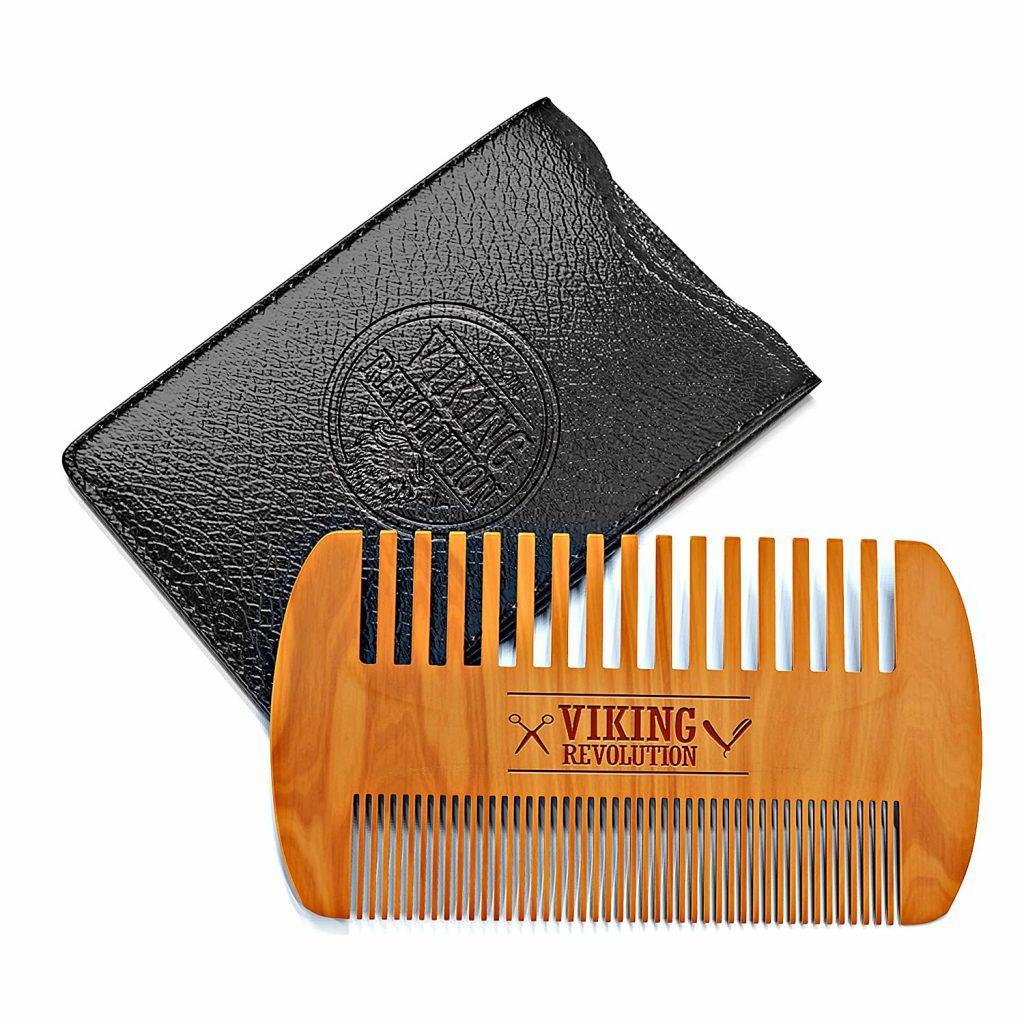 Wooden Beard Comb & Case