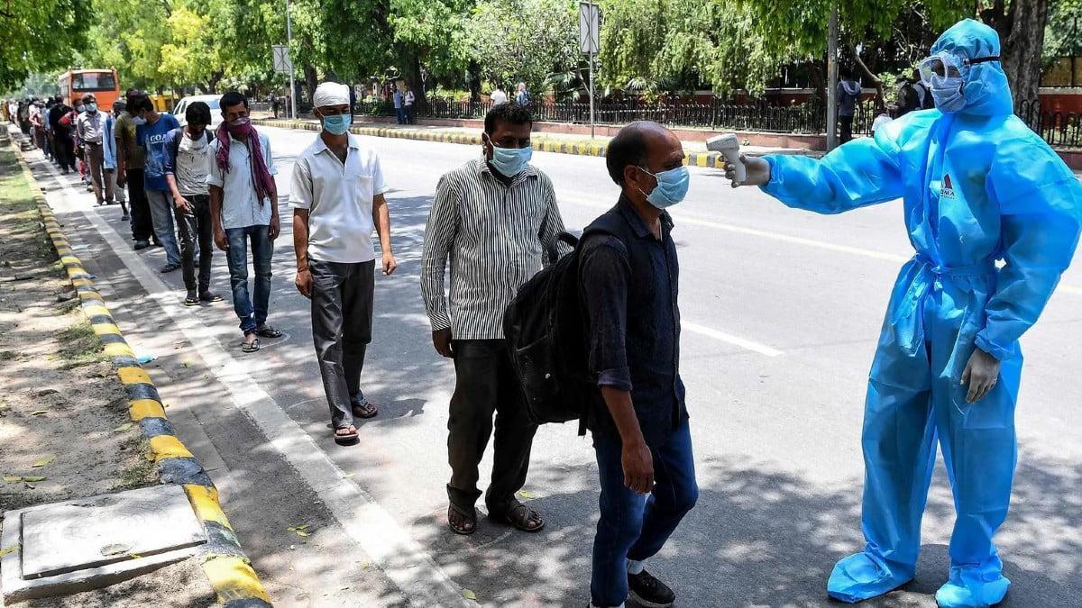 Covid health checks in India